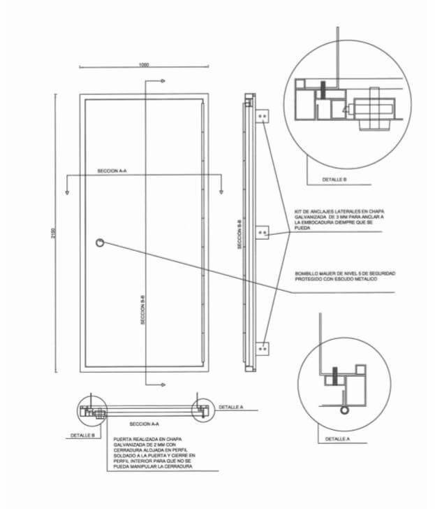estructura de puertas antiokupas